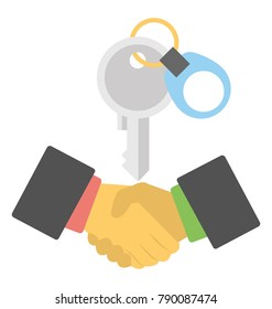 Property Deal Flat Colored Icon