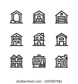 Property and House outline Icon set