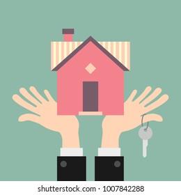 Property market investment concept illustration