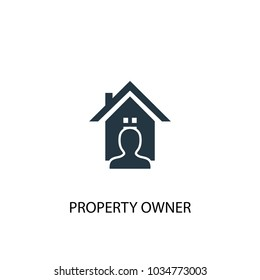 Property owner icon. Simple element illustration. Property owner symbol design from Real Estate collection. Can be used for web and mobile.