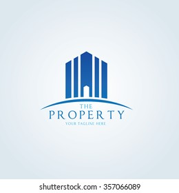 The Property, Real Estate Vector logo template