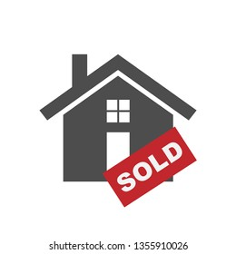 Property Sold Icon. Information -  Illustration As A Simple Vector Sign & Trendy Symbol for Design and Websites, Presentation or Mobile Application.