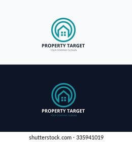 Property Target, Real estate Logo template.