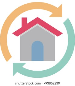 Property Value Colored Illustration Vector Icon