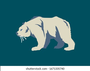 Prophetic animal biblical illustration prophecy of Daniel chapter 7 showing bear with three ribs