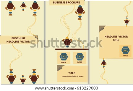 proportionally a 4 size vector template trifold stock vector