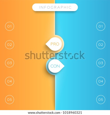 pros cons list template arrow points stock vector royalty free