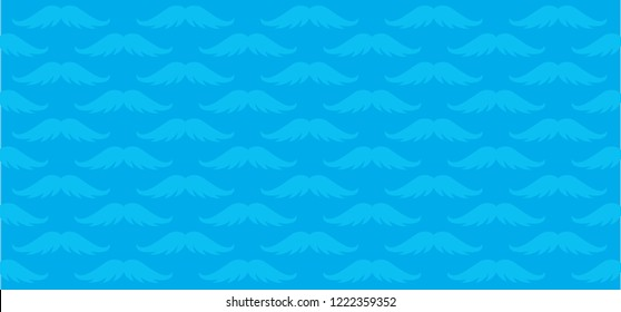 Prostate cancer moustache light blue ribbon isolated November awareness month men day diabetes vector icon ribbons ribbon dna psa World happy movember safety first Sign health heart month  No Shave