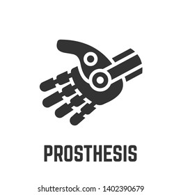 Prosthesis or robot hand icon.