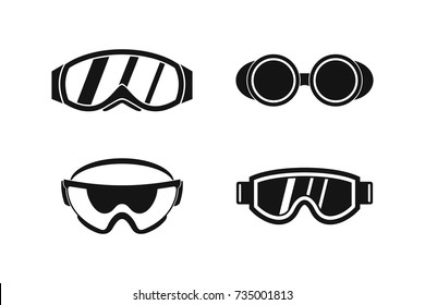 Protect glasses icon set. Simple set of protect glasses vector icons for web design isolated on white background