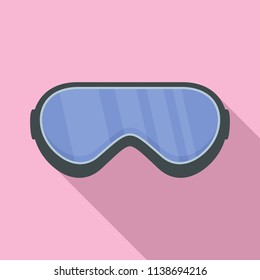 Protect goggles icon. Flat illustration of protect goggles vector icon for web design