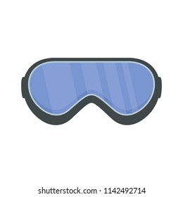 Protect goggles icon. Flat illustration of protect goggles vector icon for web isolated on white