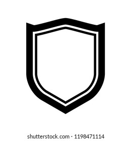 Protect guard shield plain line concept. Outline shield badge. Safety icon set. Privacy banner. Security label icon. style protect sticker symbol shape. Safeguard simple sign linear shield pictogram