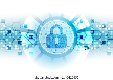Protect mechanism, system privacy. Vector illustration
