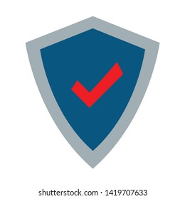 Protect shield icon. flat illustration of Protect shield vector icon for web
