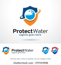Protect Water Logo Template Design Vector