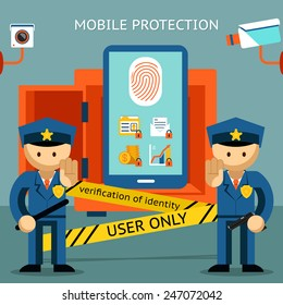 Protect your cell phone, fingerprint, only to owner. Financial security and data confidentiality