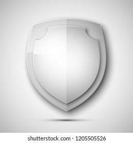 Protected double guard shield concept. Safety badge color icon. Privacy colorful banner shield . Security bright label. Defense tag. Presentation shining sticker shape. defense safeguard shield sign