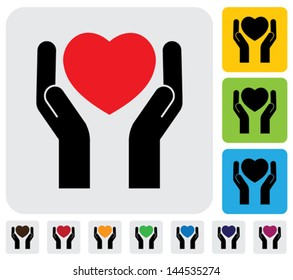 protecting love failure ( heart break ) concept- vector graphic. This illustration represents concept of safeguarding human health, protecting heart from breaking, prevention of heart failure