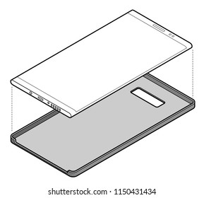 Protecting your celllar/mobile phone with a back case/cover.