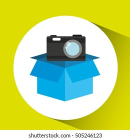 protection camera photografy archive design vector illustration