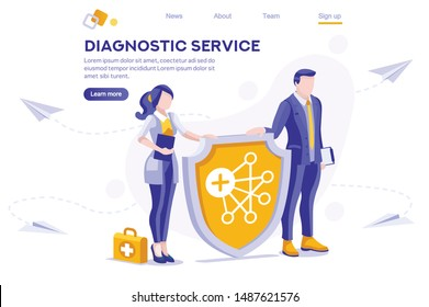 Protection, Female Social Clip, Medical Girl. Health Paper, Clipart. Male Networking Shield Service, Holding Media Envelope. Collection, Cartoon Flat Vector Illustration Hero Image Isometric Banner