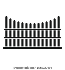 Protection fence icon. Simple illustration of protection fence vector icon for web design isolated on white background
