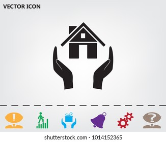 protection and home insurance web icon. vector design