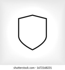 Protection Icon. Universal Interface Element, Shield Sign and Symbol - Vector.