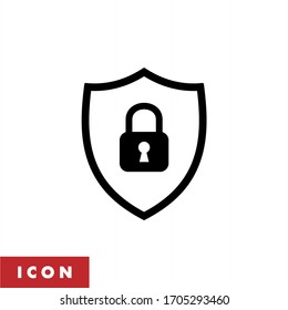 Protection icon vector. Padlock icon