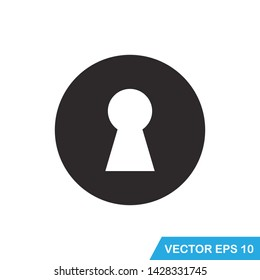 protection, keyhole icon vector template
