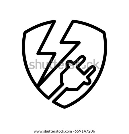 Protection Management Electrical Power Supply Resources Stock Vector