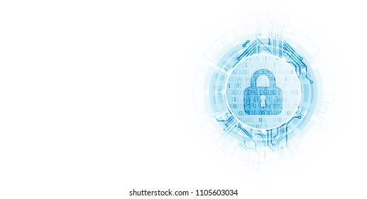 Protection mechanism  concept, system privacy. Light technology background. Vector illustration