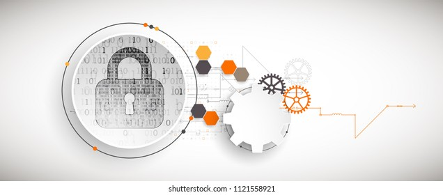 Protection mechanism  concept, system privacy. Vector illustration