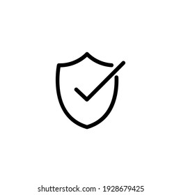Protection, security icon. Safety shield symbol for computer data privacy and cybersecurity concepts.