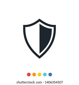 Protection shield icon,Interception icon,Antivirus icon.