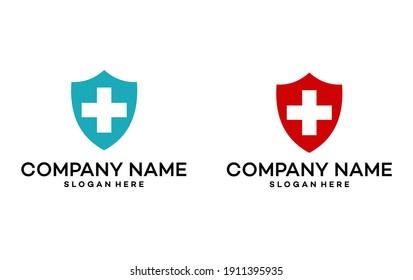 Protection Symbol,Medical Health Protection Shield Logo Design