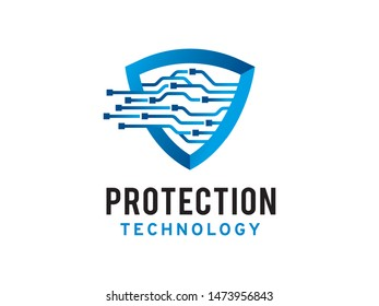 Protection technology logo symbol or icon template