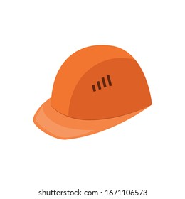 Protective construction helmet isolated on white background icon vector illustration design. Concept of industrial security and safety professional workplace.