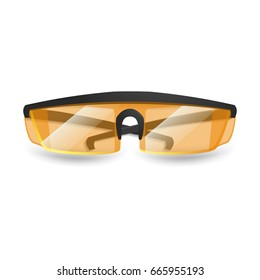 Protective equipment for repair and construction. Realistic protective glasses isolated on white background. Vector illustration.