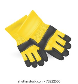 Protective gloves  isolated on white