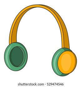 Protective headphones icon. Cartoon illustration of ear protectors vector icon for web design