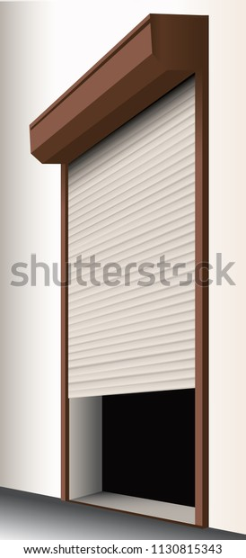 Protective Roller Blinds 3d Model Eps Stock Vector Royalty