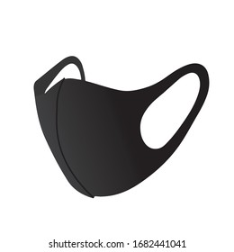protective stylish face mask black edition vector