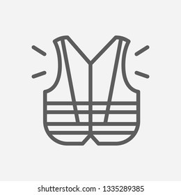 Protective vest icon line symbol. Isolated vector illustration of  icon sign concept for your web site mobile app logo UI design.