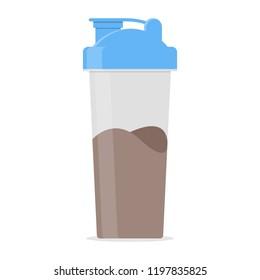 Protein Shaker Vector Icon Illustration
