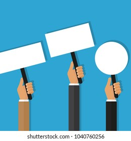 protest banner vector icon flat design with shadow