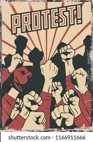 Protest and Resistance Propaganda Poster