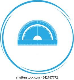 protractor. Internet button. Vector icon.