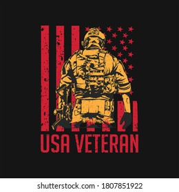 proud army veteran t-shirt.usa flag,veteran vector.New York flag america typography